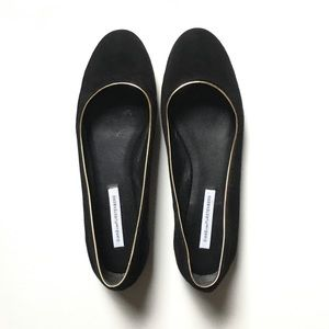 DVF Cambridge ballet flats in suede size 9 1/2